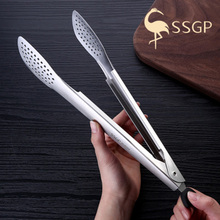 SSGP SUS304 stainless steel food clip adjustable mouth bread multi-function barbecue meatball