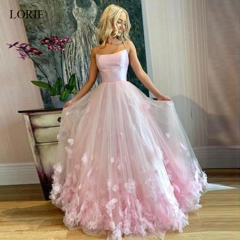 LORIE Beautiful   Prom     dresses   2019 sleeveless Tulle, Appliques Party   dress   for Women Girls Princess   Dress   Custom Wedding Gown