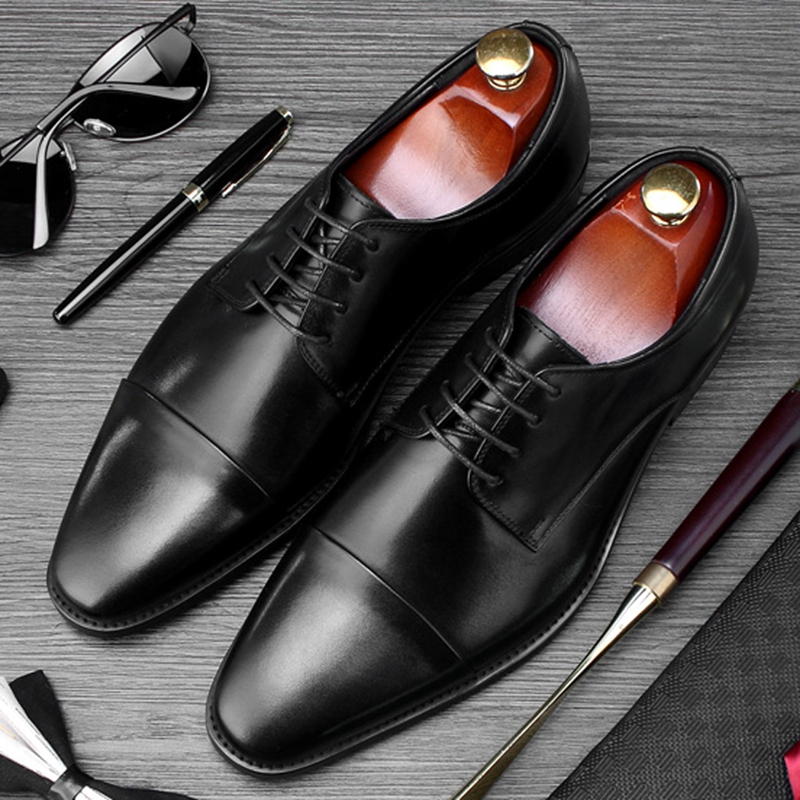New Basic Round Toe Derby Man Formal Dress Wedding Shoes Genuine Leather Lace up Handmade Mens Office Business Footwear SS481New Basic Round Toe Derby Man Formal Dress Wedding Shoes Genuine Leather Lace up Handmade Mens Office Business Footwear SS481
