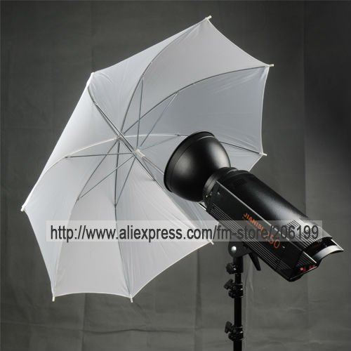 "33"" 83cm Pro STUDIO FLASH TRANSLUCENT WHITE UMBRELLA Free ship with tracking number"