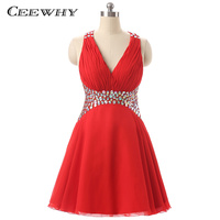Ceewhy red beading short cocktail dress crystal sexy v neck backless chiffon graduation homecoming dress plus.jpg 200x200