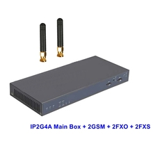 IP2G4A 2G2O2S GSM IP Asterisk PBX Ready Analog SIP IAX2 Server  with 2GSM 2FXO 2FXS Ports Supports 1- 2 GSM and 1- 4 FXO or FXS