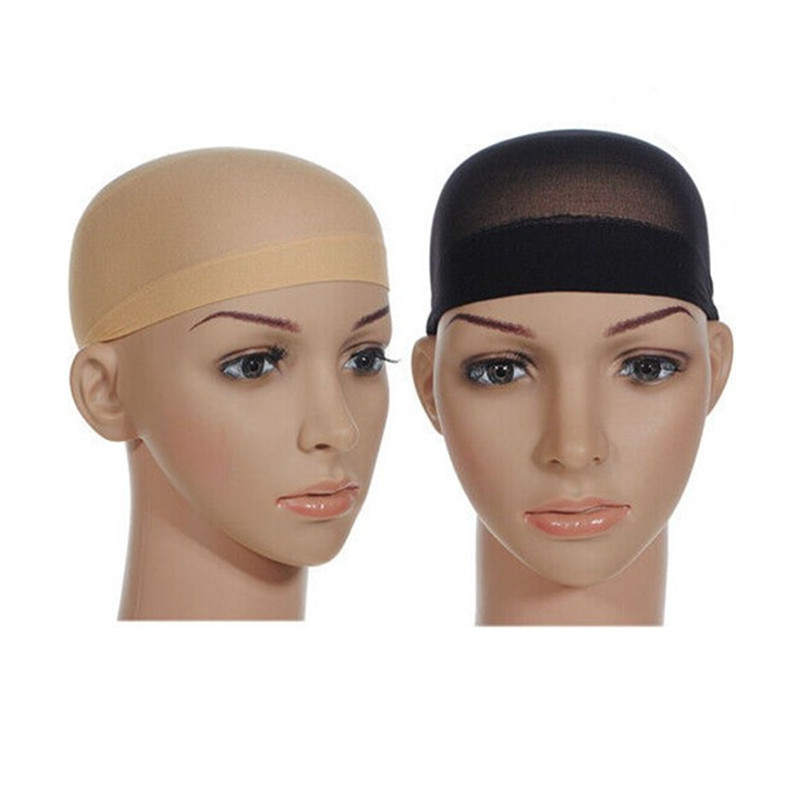 2Pcs Wig Cap Breathable Stretchable Refreshing Cotton -6504