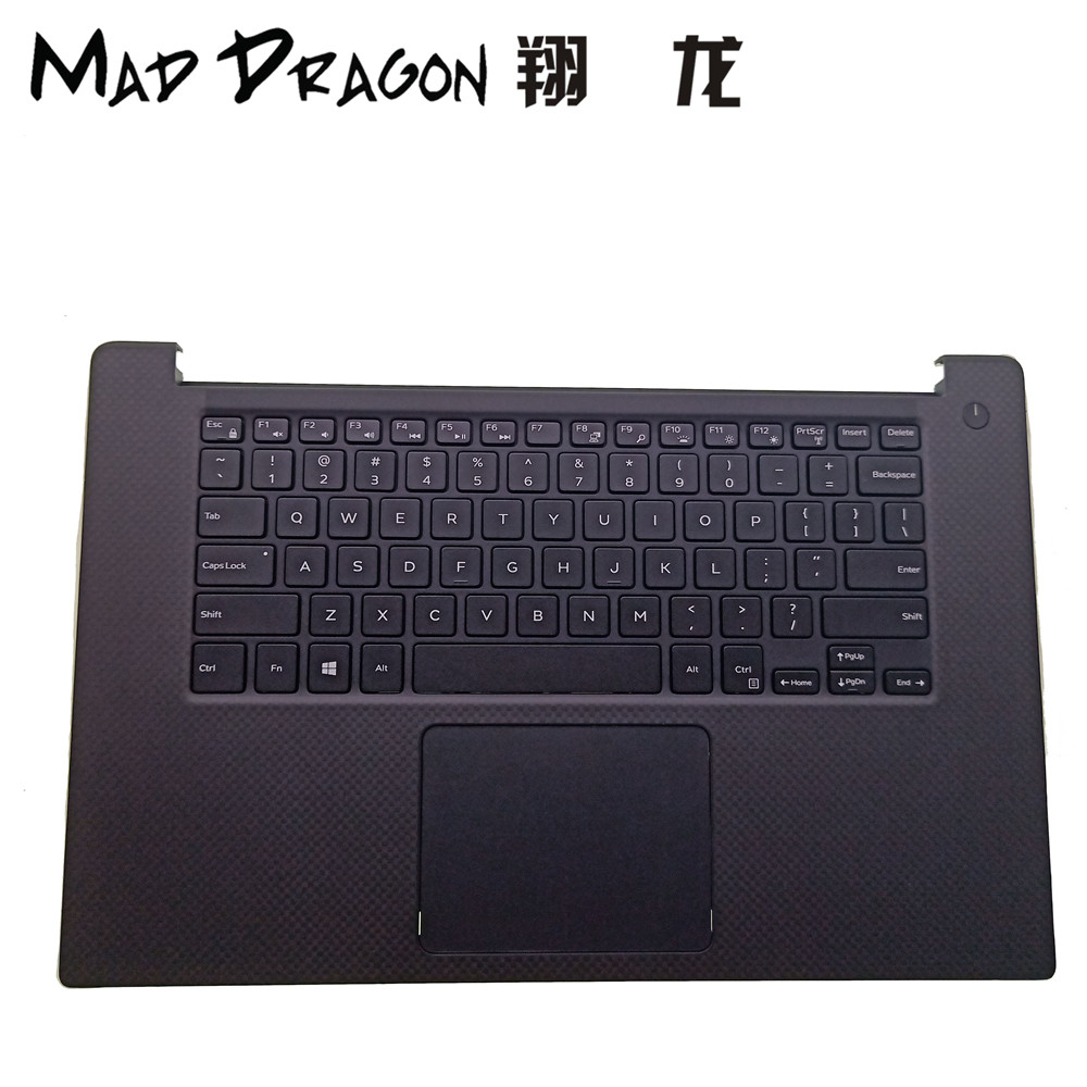 MAD DRAGON Brand laptop Palmrest Touchpad Assembly For Dell XPS 15 9550 M5510 0D6CWH D6CWH US keyboard GDT9F Speakers TX47W laptop us keyboard for dell xps13 9343 9350 9360 backit keyboard touchpad and palmrest assembly