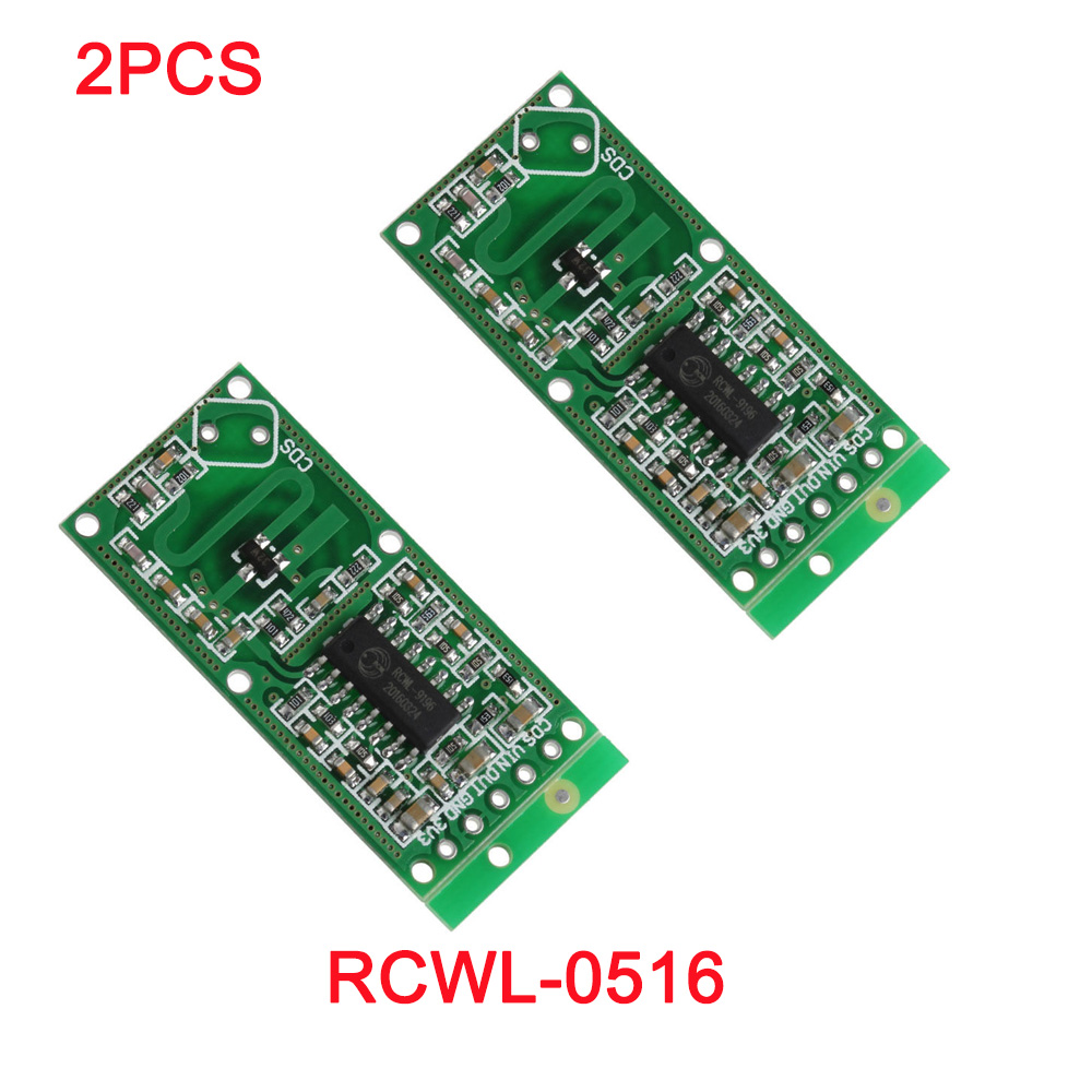 2pcs/lot RCWL-0516 Microwave Doppler Radar Sensor Switch Module Human Induction Board Detector For Arduino RCmall