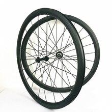 700C карбоновые дорожные колеса 38 мм Глубина карбоновые дорожные колеса карбоновые колеса велосипеда клинчер u-образной формы 25 мм ширина u-образной формы