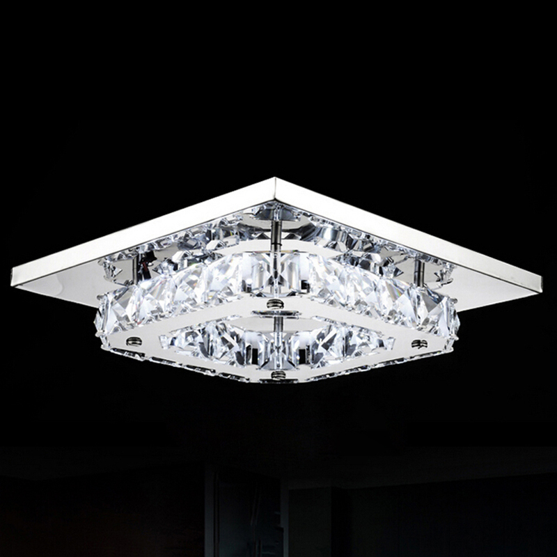 Free Shipping Modern Led Ceiling Lights Ceiling Lamp Flush Mount Crystal Light 90-265V Surface Mounted Hallway Bed Room Light d250mm crystal ceiling lamp bed room ceiling lights top crystal ball k9 crystal modern ceiling lights free shipping