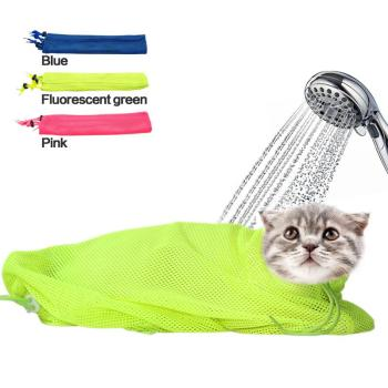 New Mesh Cat Grooming Bathing Bag No Scratching Biting Restraint for Bathing Nail Trimming Injecting Examing New Cat Grooming Bathing Bag New Cat Grooming Bathing Bag HTB1