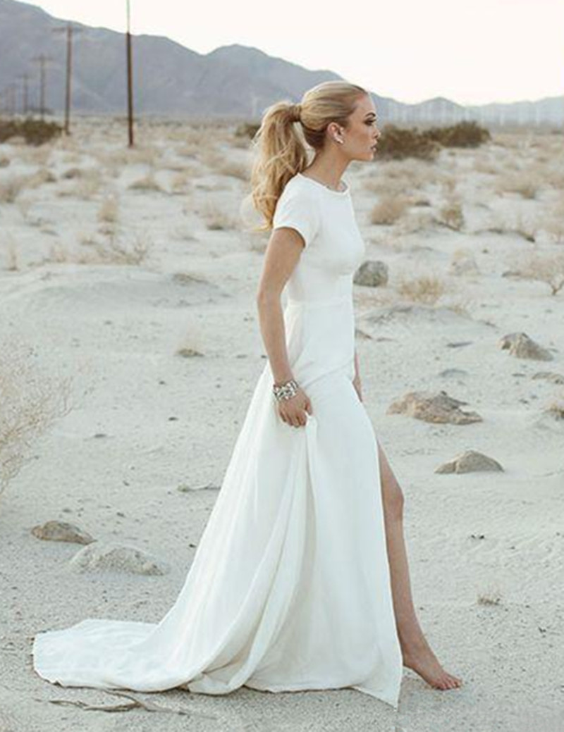 Popular casual short beach wedding dresses buy cheap for Wedding dress for casual wedding