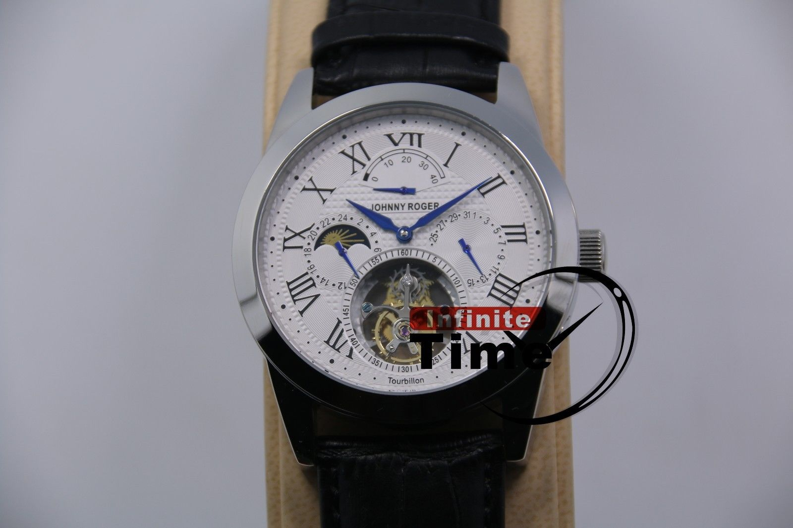 Genuine Seagull Tourbillon OEM Man Handwind Wristwatch JOHNNYROGER Date Power ReserveGenuine Seagull Tourbillon OEM Man Handwind Wristwatch JOHNNYROGER Date Power Reserve