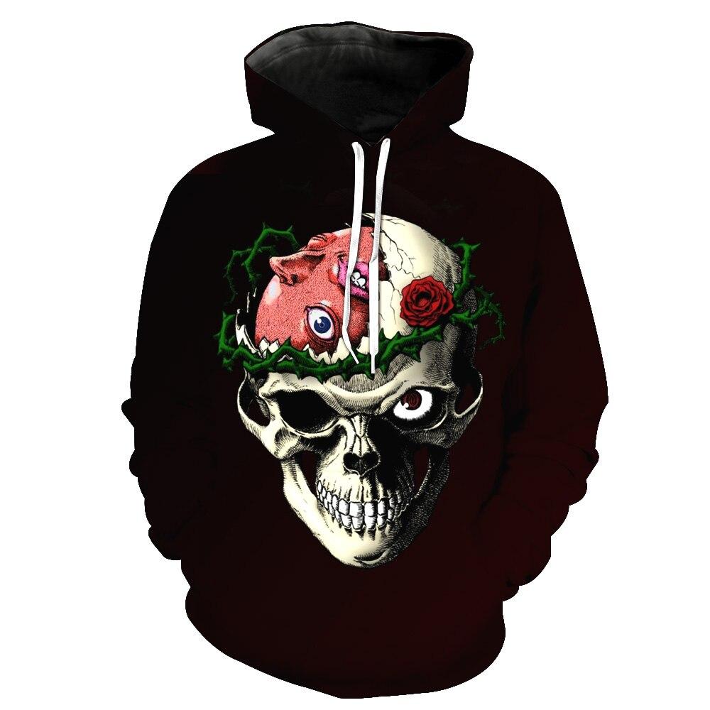MWBAY 3D Various Skulls Sweatshirts Unisex Men Womens Hoodies Couple Spring Autumn Winter Loose Thin Hooded Hoody Tops