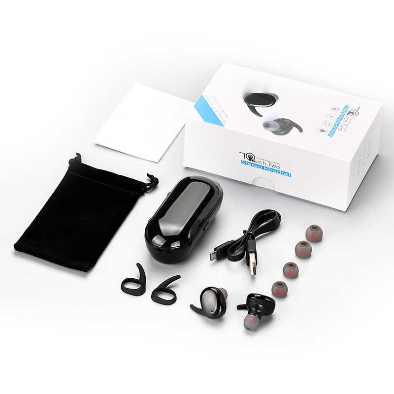 Langsdom sterowanie dotykowe bezprzewodowy zestaw słuchawkowy bluetooth TWS kontrolą głośności zestaw słuchawkowy słuchawki z mikrofonem dla iphone xiaomi fone de ouvido
