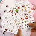 New Bonito Encantador Coelho 6 Folha de Adesivos De Papel para Livro Diário Scrapbook decoração DIY Álbum de fotos Personalizado etiquetas Dos Desenhos Animados