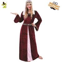 Adults Renaissance Medieval Costume Lady's Princess Fancy Dress Party Costumes