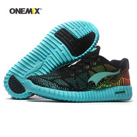 ONEMIX Free Ship Women Running Shoes For Men Mesh Athletic Trainers Black Red Zapatillas Run Sport Shoe Outdoor Walking Sneakers