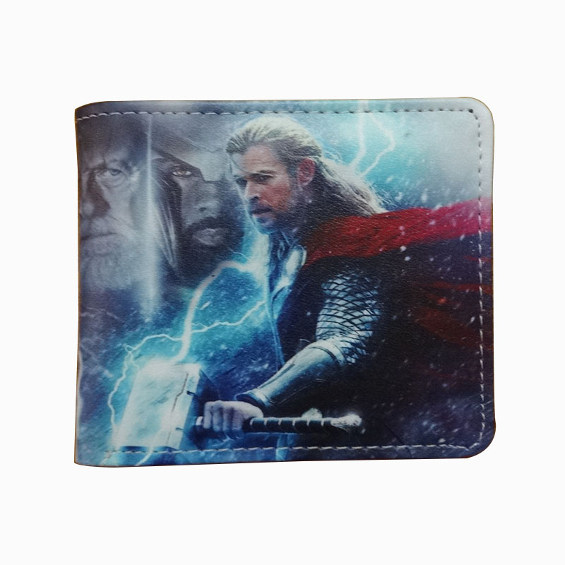 Novelty Anime Thor Wallets Cartoon Design PU Leather Short Purse carteira Super Hero Captain America Deadpool Men Woman Wallet dc wonder woman wallet suicide squad purse super hero fashion cartoon wallets personalized anime purses for teens girl student