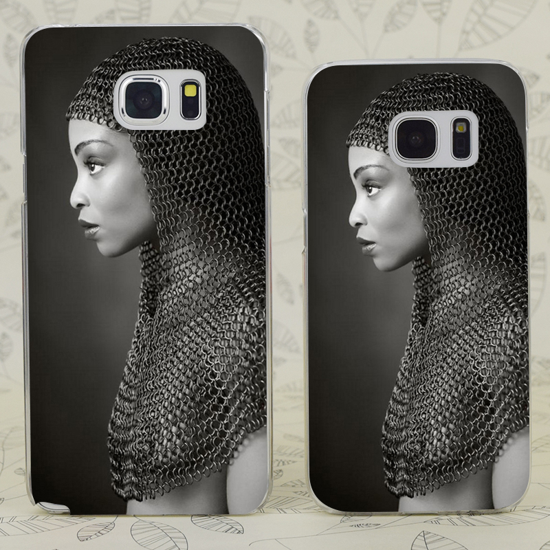 C0171 Lady Chainmail Transparent Hard PC Case Cover For Samsung Galaxy S 3 4 5 6 7 Mini Edge Plus Note 3 4 5 7