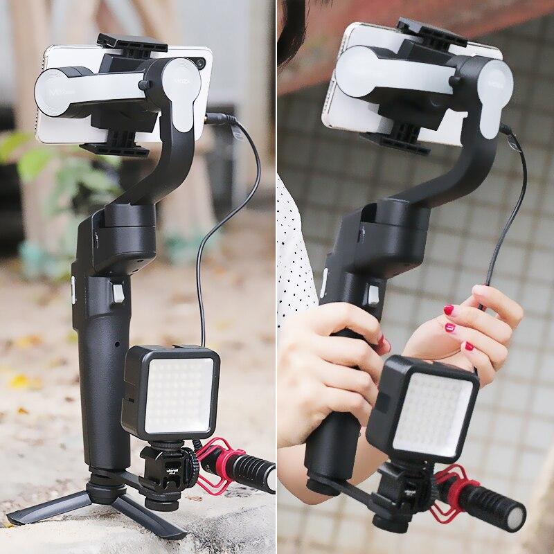 (В наличии в России) Moza Mini S складной 3 осевому гидростабилизатору Vlog стабилизатор для iPhone X 8p huawei P30 Pro GoPro 7/6/5 - 5