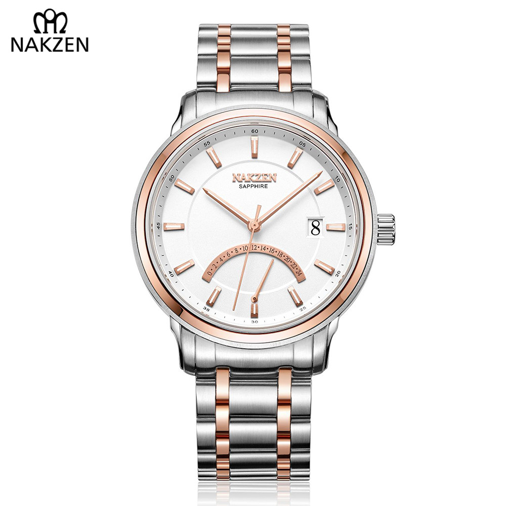 598e40c70 NAKZEN Top Luxury Brand Distinguished Men Watch Popular Business Famous  Watch Stainless Waterproof Orologio Uomo Clock For Gift