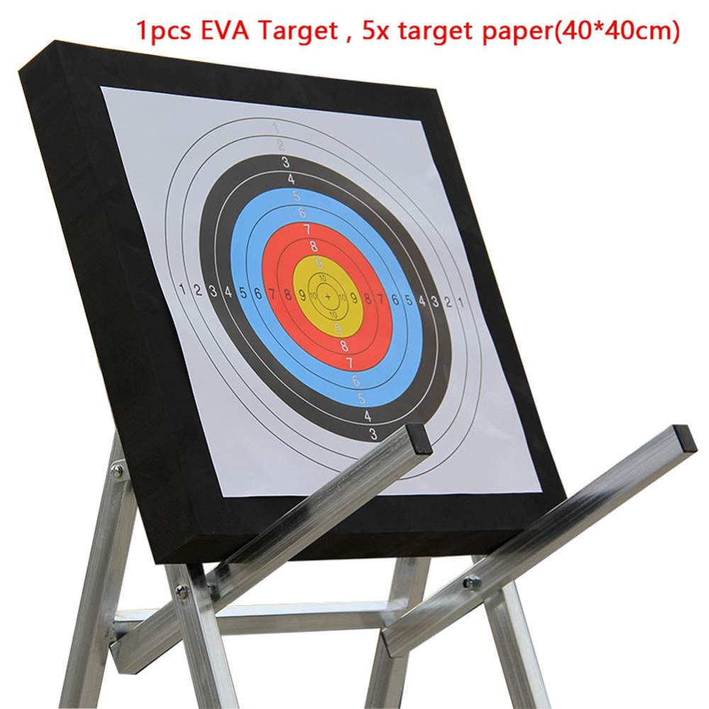 Archery Black EVA Foam Target Self Healing 2-Sided 20x20x2.4 Inch Compound Recurve Bow Hunting Arrows Target Paper For Shooting