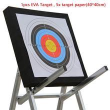 สีดำยิงธนู EVA โฟม Self Healing 2 ด้าน 20x20x2.4 นิ้ว Compound Recurve Bow Hunting ลูกศรเป้าหมายกระดาษสำหรับเกมส์ยิง