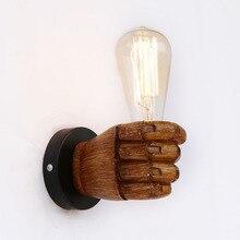 Modern Loft Industrial Resin Left Right Hand Style Luminaire Wall Lamp LED Sconce Lights For Bathroom Living Room Bedroom