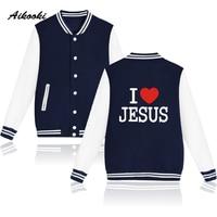 Aikooki Cool Jesus Christian Design Baseball Capless Jacket Sweatshirt Women Hoodies Fashion Hoodies Men Jacket Clothes