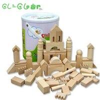 Educational Children S Wooden Building Blocks Forest Castle Building Block Primary Colors