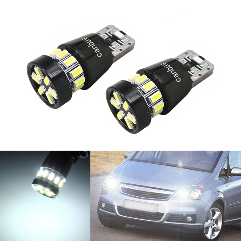 2x W164 T10 W5W 18 LED 3014SMD Parking Lights Sidelight No Error For <font><b>Opel</b></font> Astra h j g <font><b>Corsa</b></font> Zafira Insignia Vectra b c <font><b>d</b></font> image