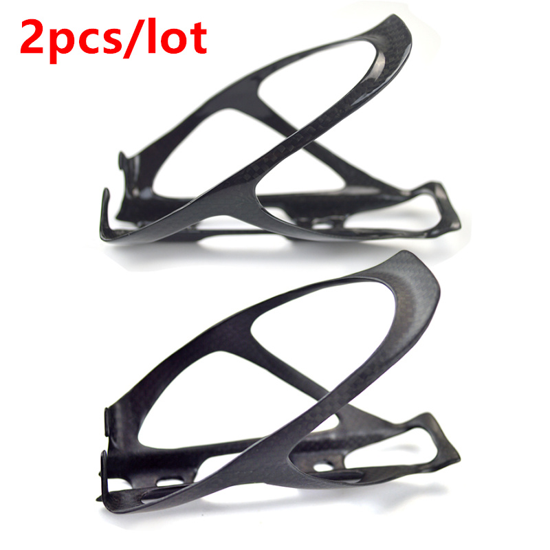 2PCS Carbon Bottle Cage Water Bottle Cage MTB/Road Bicycle Bottle Holder Bike Mountain Fixed Gear Bike Accessories