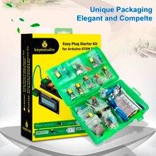 keyestudio EASY plug RJ11 Ultimate Starter Learning Kit for Arduino STEM EDU/Compatible With Mixly Block цена