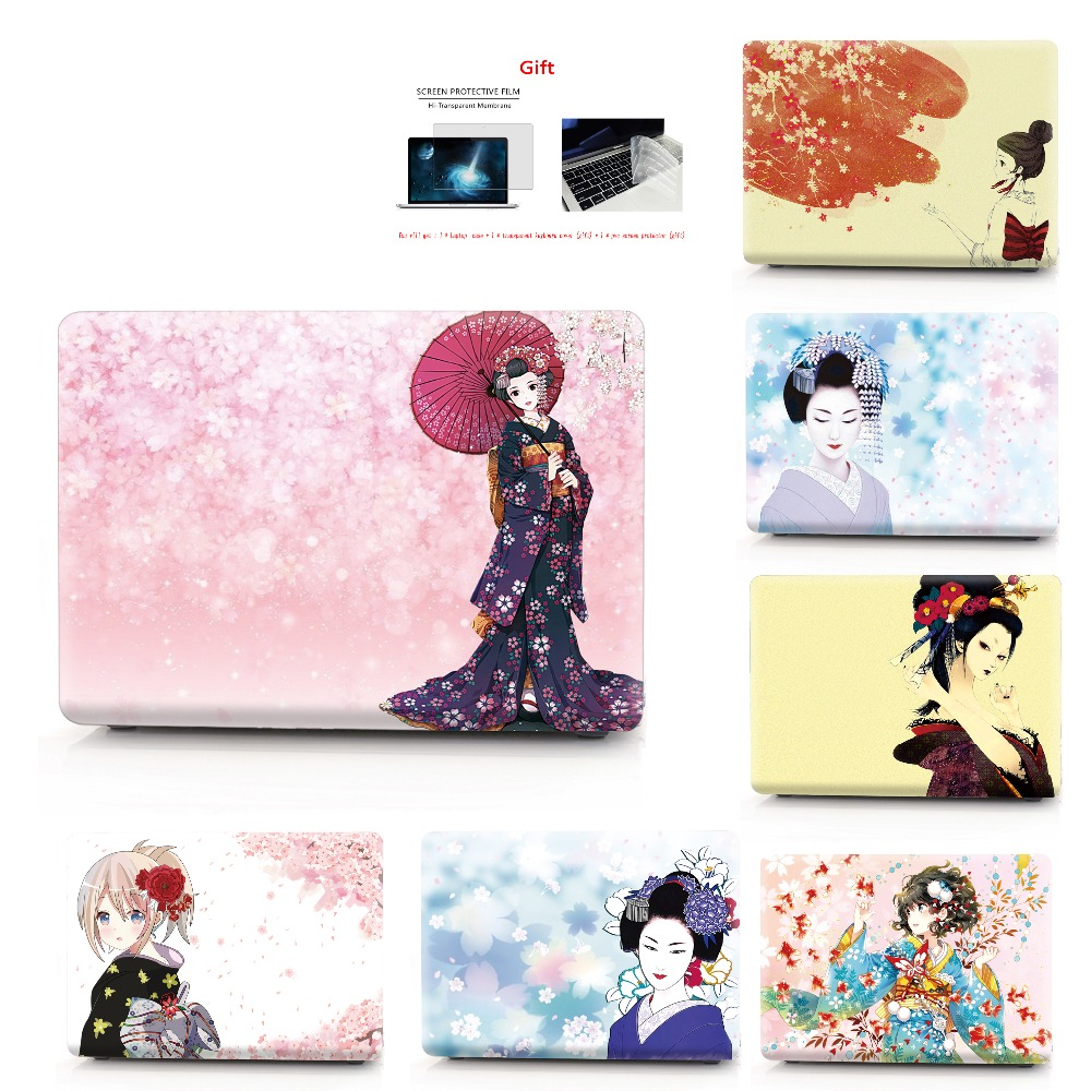 Kimono color printing notebook case for Macbook Air 11 13 Pro Retina 12 13 15 inch Colors Touch Bar New Air 13 or New Pro 13 15-in Laptop Bags & Cases from Computer & Office