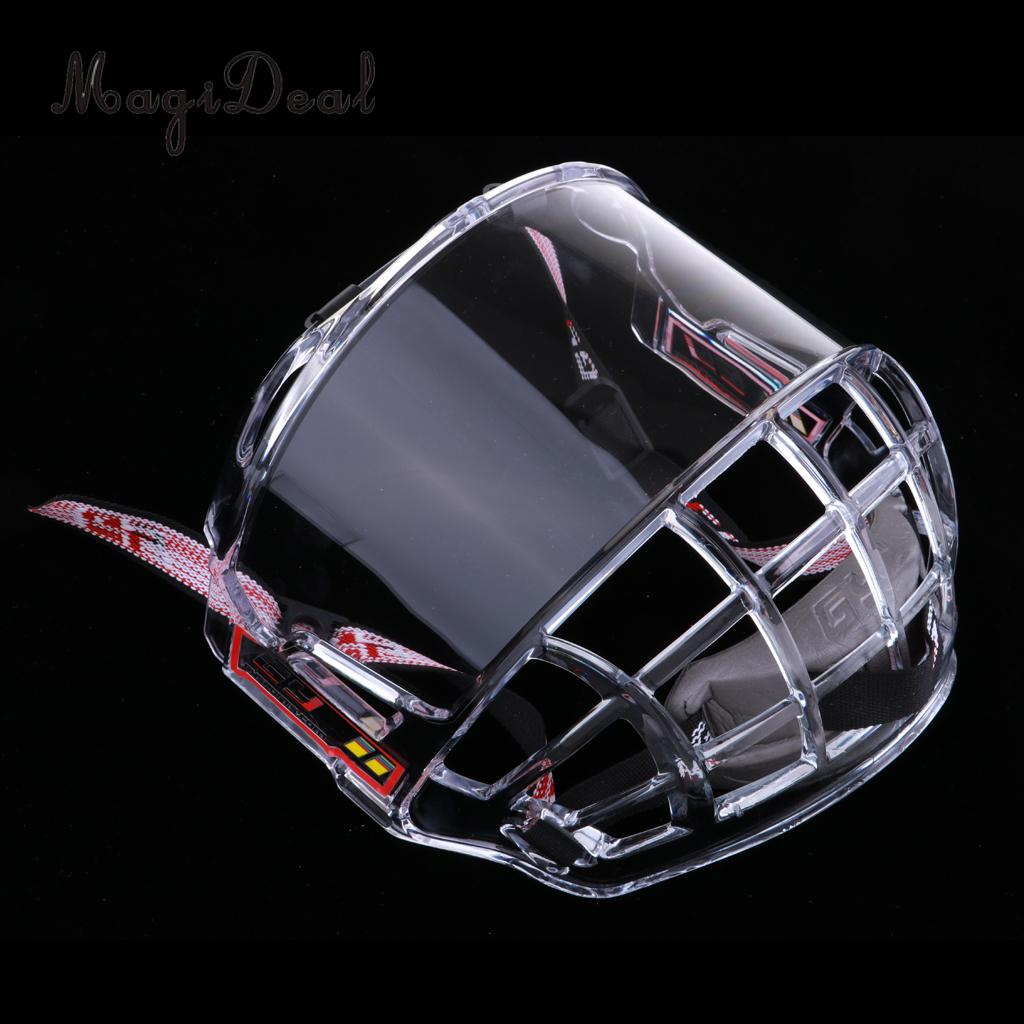MagiDeal PC Anti-Fog Anti-Scratch Ice Hockey Helmet Full Face Shield Visor Replacement Team Sports Protective Gear Protection