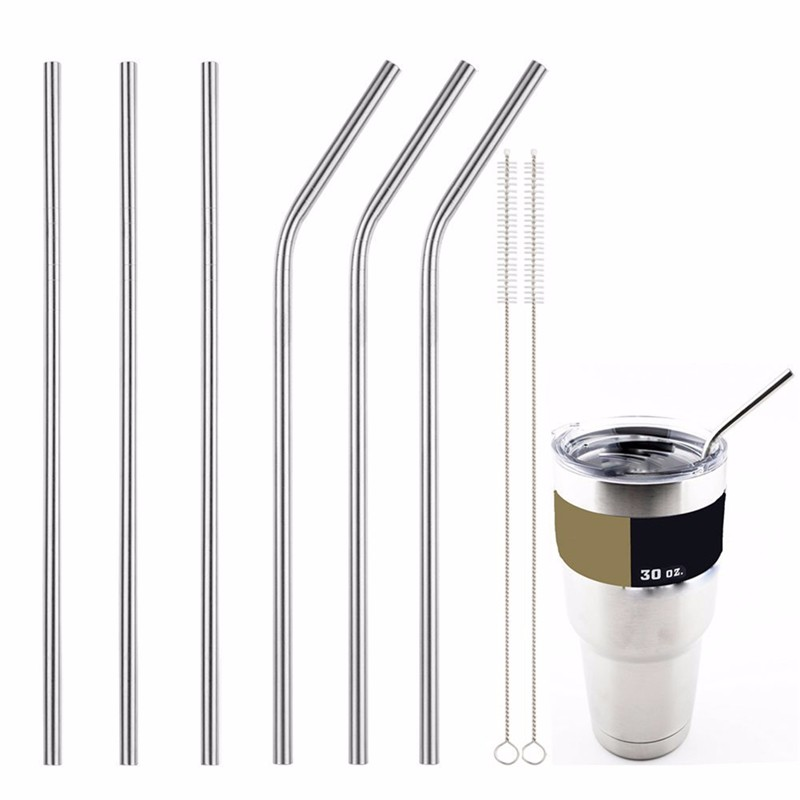 600Pcs Stainless Steel Metal Drinking Straw Straws with 100 Cleaner Brush Kit