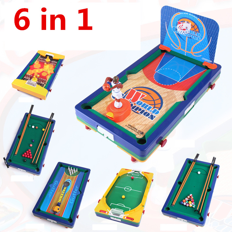 Awesome 6 In 1 Children Kids Board Game Snooker Basketball Soccer Football Bowling  Hockey Toy In Soccer Tables From Sports U0026 Entertainment On Aliexpress.com  ...