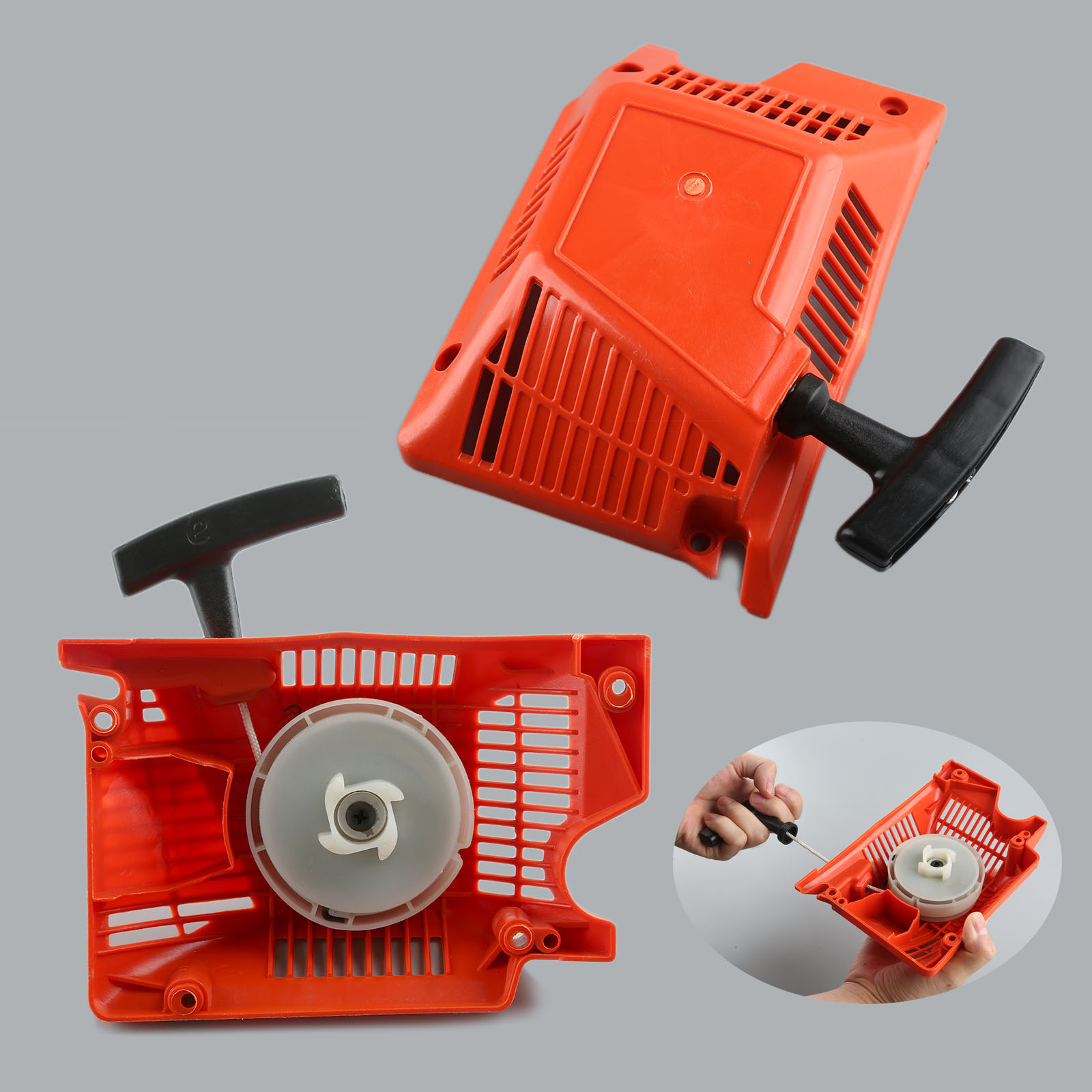 DRELD 45cc 52cc 58cc Chainsaw Parts Single Recoil Pull Starter Assembly Chainsaw Spares For Chinese Chainsaw 4500/5200/5800