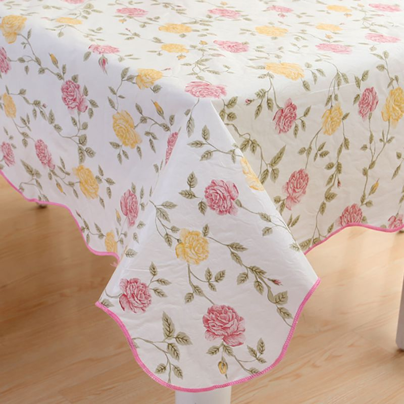 waterproof oilproof wipe clean pvc vinyl tablecloth dining kitchen table cover protector oilcloth fabric covering ss1 in tablecloths from home garden on - Kitchen Table Covers Vinyl