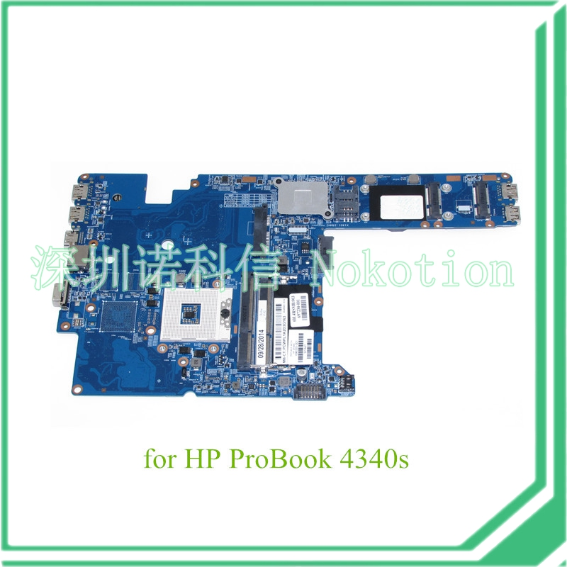 NOKOTION Richie MB 11241-1 48.4RS01.011 696335-001 For hp probook 4340s Laptop motherboard HD4000 DDR3 nokotion fiji mb 12238 1 48 4yz34 011 721523 001 laptop motherboard for hp probook 440 450 hd4000 ddr3 mainboard