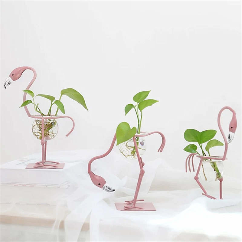 Vvsoo Flamingo Table Party Decoration Event Party Flower Pots Water Culture Scindapsus Container Room Wedding Decorations