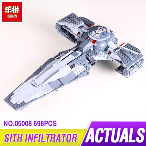 LEPIN 05008 698pcs The Force Awakens Sith Infiltrator Toy For Boys Building Block Darth Margus Compatible With 70596 new lepin 698pcs 05008 star wars sith infiltrator figure marvel building blocks set toys compatible legoed with 7961