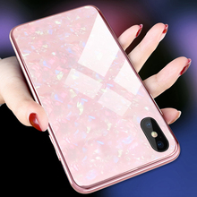 Sparkly Case For Samsung S10 Plus Note9 S8 S9 Plus Note8 Cover Luxury Marble Glass Case For iPhone Xr X Xs Max 7 8 Plus 6S Case luxury square leather for iphone xs max xr x xs 6 6s 7 8 plus fashion phone case for samsung s8 s9 s10 plus note10 pro note8 9