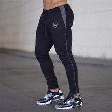 YEMEKE 2019 Cotton Men full sportswear Pants Casual Elastic