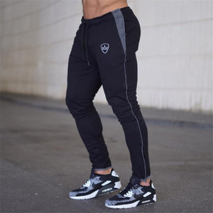 Image 1 - YEMEKE 2019 Cotton Men full sportswear Pants Casual Elastic Mens Fitness Workout Pants skinny Sweatpants Trousers Jogger Pants