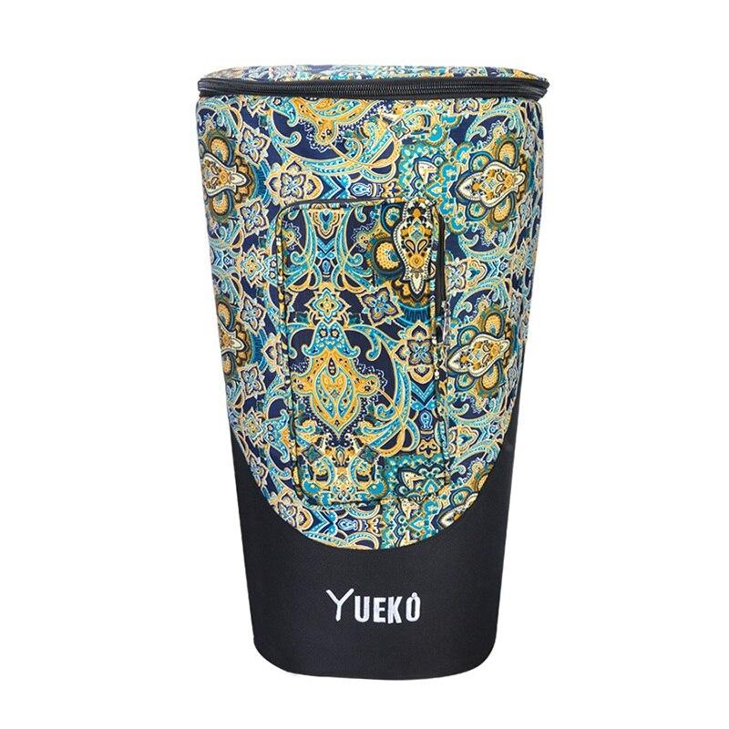 Sac djembé bretelles robustes sac de tambour africain de haute qualité et durable construction Triple couche 10/12 pouces bleu