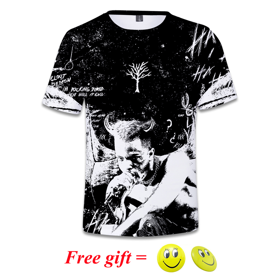 Fashion Raper Xxxtentacion 3D   t     shirt   Men/women With Hip Hop Style Casual 3D Print Short Sleeve Men's   t     shirt   Xxxtentacion Top