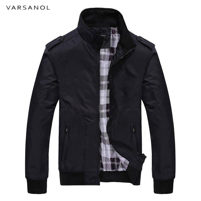 Varsanol 2018 Новая куртка пальто Для мужчин одежда осенние куртки Для мужчин s Костюмы высокое качество весенняя куртка воротник-стойка хлопок, полиэстер