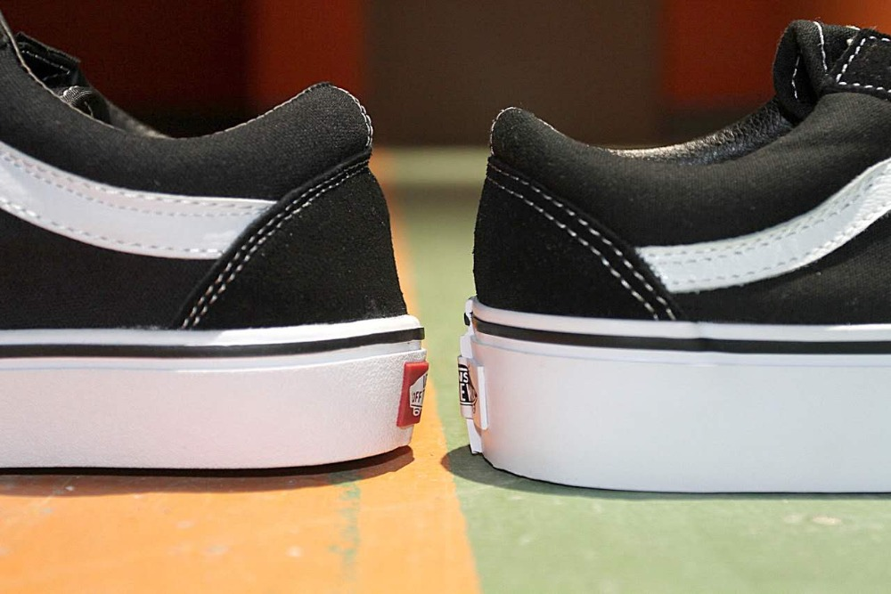 Vans Aesthetic Old Skool Womens Sk8 Platform Canvas Shoes Weight Lifting  Black & White Skate Vans Shoes