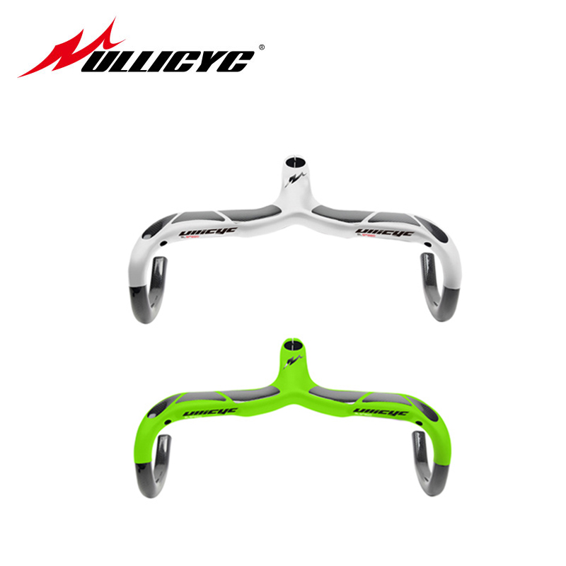 White Fluorescent Green High Quality Road Carbon Handlebar Cycling Bent Bar Bicycle Parts Black 28 6mm
