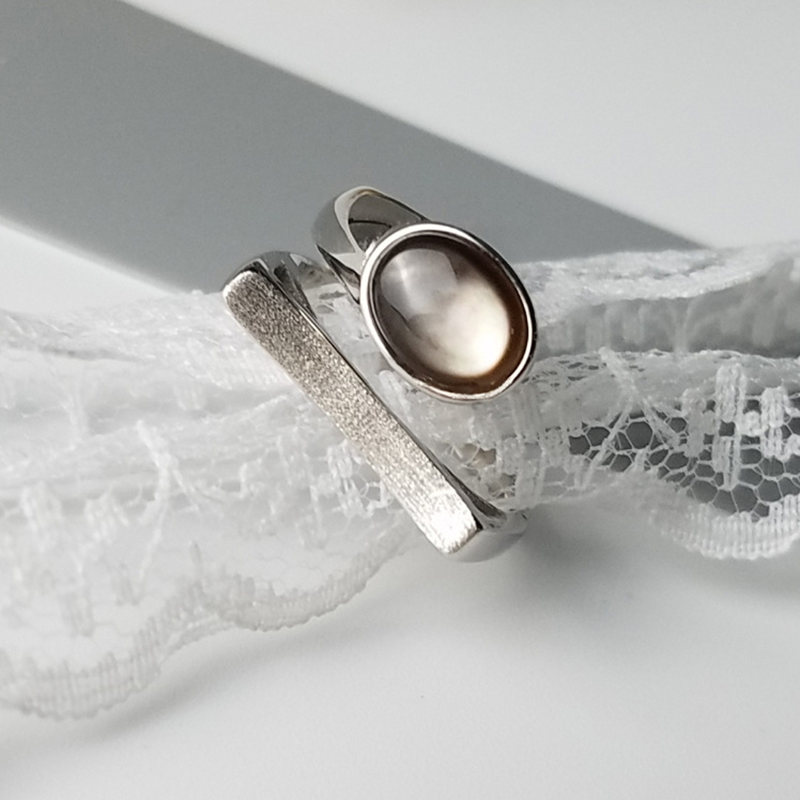 Size 6.75 vintage Mexico DEII sterling silver handmade statement ring stamped 925 DEII 925 silver swirl band