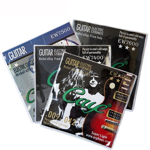 Orphee Caye EW Series Electric Guitar Strings Set Metal Rock Hexagonal Carbon Steel Electric Guitar String Guitar Accessories